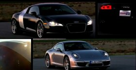 Porsche 911 vs Audi R8 (Track Test Video 2012)