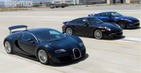 Porsche 911 Turbo S (2011) vs Bugatti Veyron 16.4 Super Sport (2012) vs Nis ...