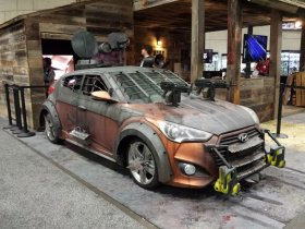 Hyundai Veloster Turbo Zombie Survival Machine - машина для защиты от зомби